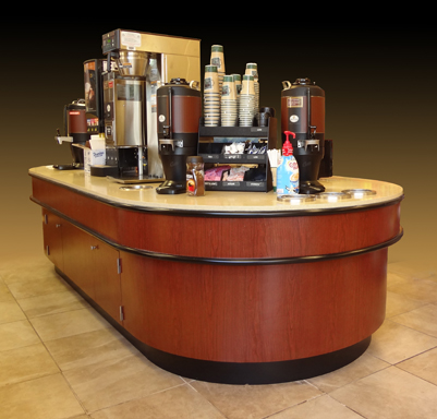 Millwork Point Of Sale Cash Counters Coffee Bars